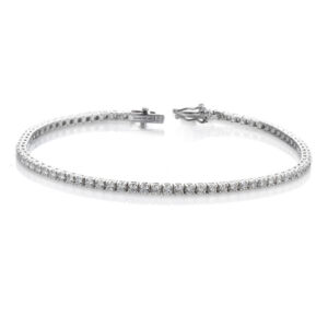 braccialetto tennis, diamanti e oro bianco